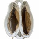 Сумка женская белая кожаная 1856/011 Украина