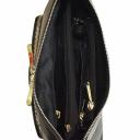 Сумочка через плечо женская маленькая кожаная черная 1812/101 Украина