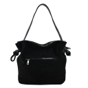 Замшевая сумка черная 1563/108 Украина