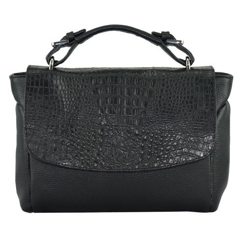 Женская кожаная сумка черная 1938/101-104 Украина