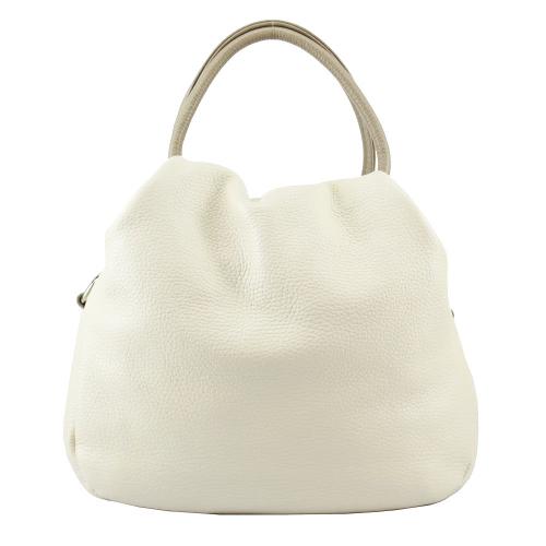 Женская кожаная сумка 2471/231-221 молочная Украина