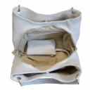 Женская кожаная сумка серая 990/121 Украина