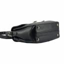 Женская кожаная сумка через плечо черная 2562/101 Украина