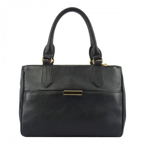 Женская кожаная сумка Украина черная 1750/101