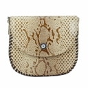 Женская сумка через плечо кожаная бежевая питон Karya 0775/229 Турция