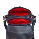 Женская сумка через плечо Украина 2562/401 кожаная синяя