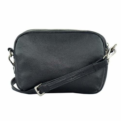 Женская сумка черная кожаная маленькая 2042/101 Украина