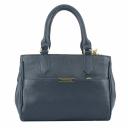 Женская сумка кожаная синяя 1750/401 Украина