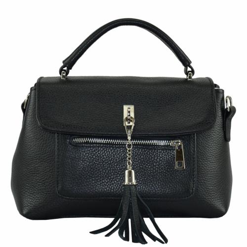 Женская сумка кожаная черная 2076/101 Украина