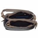 Женская сумка кожаная синяя бежевая 2158/401-221 Украина