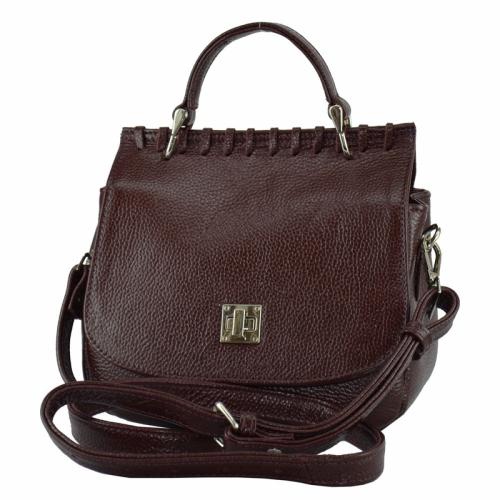 Женская сумка кожаная бордовая 2186/311 Украина