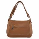 Женская сумка кожаная рыжая 2306/211 Украина