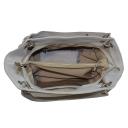 Женская сумка кожаная серая 672М/121 Украина