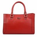 Женская сумка кожаная красная KARYA 5019/301 Турция