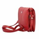 Женская сумка красная кожаная маленькая Karya 0736/301 Турция