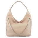 Женская сумка шоппер из натуральной кожи светлая 2053/141 Украина
