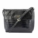Женская сумочка кожаная черная крокодил 1770/105 Украина