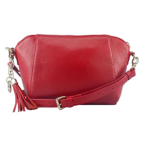 Модная сумка из натуральной кожи красная 2220/301 Украина