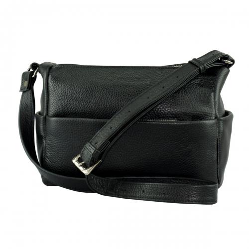 Женская сумочка через плечо кожаная черная 2171/101 Украина