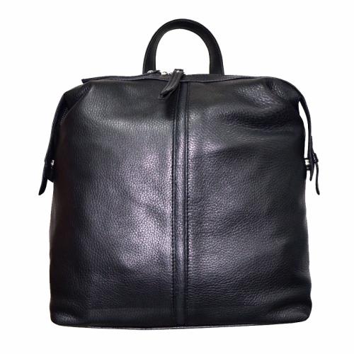 Женский городской рюкзак из натуральной кожи черный 1830/101 Украина