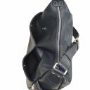 Жіноча шкіряна сумка синя 1603/401 Україна