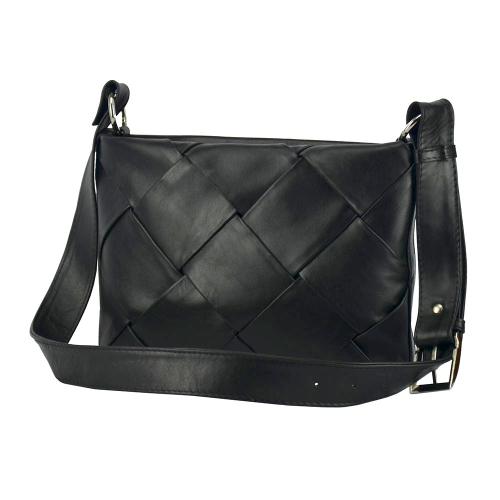 Жіноча шкіряна сумка чорна 2709/102 Україна