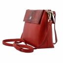 Жіноча шкіряна сумка червона питон Karya 0754/301-309 Турція