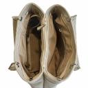 Жіноча сумка шкіряна кольору слонової кістки крокодил 583/234P Україна