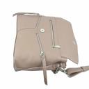 Жіноча сумка через плече шкіряна беж 2069/141 Україна
