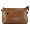 Жіноча сумка через плече шкіряна руда 2137/211 Україна