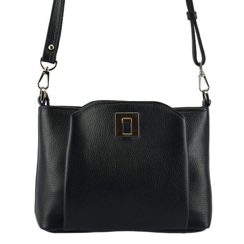 Жіноча сумка через плече шкіряна чорна 2561/101 Україна