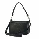 Жіноча сумка з натуральної шкіри чорна 2073/105 Україна