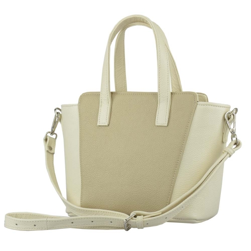 Жіноча сумка з натуральної шкіри бежевая 2085/221 Україна