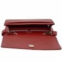 Жіноча сумка з натуральної шкіри червона Karya 2120/301 Турція
