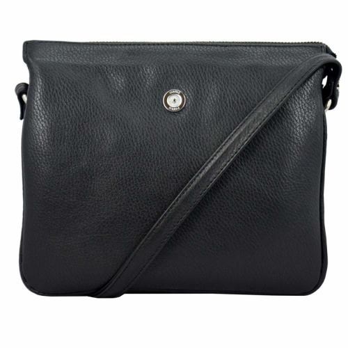 Жіноча сумка з натуральної шкіри чорна Karya 0736/101 Турція